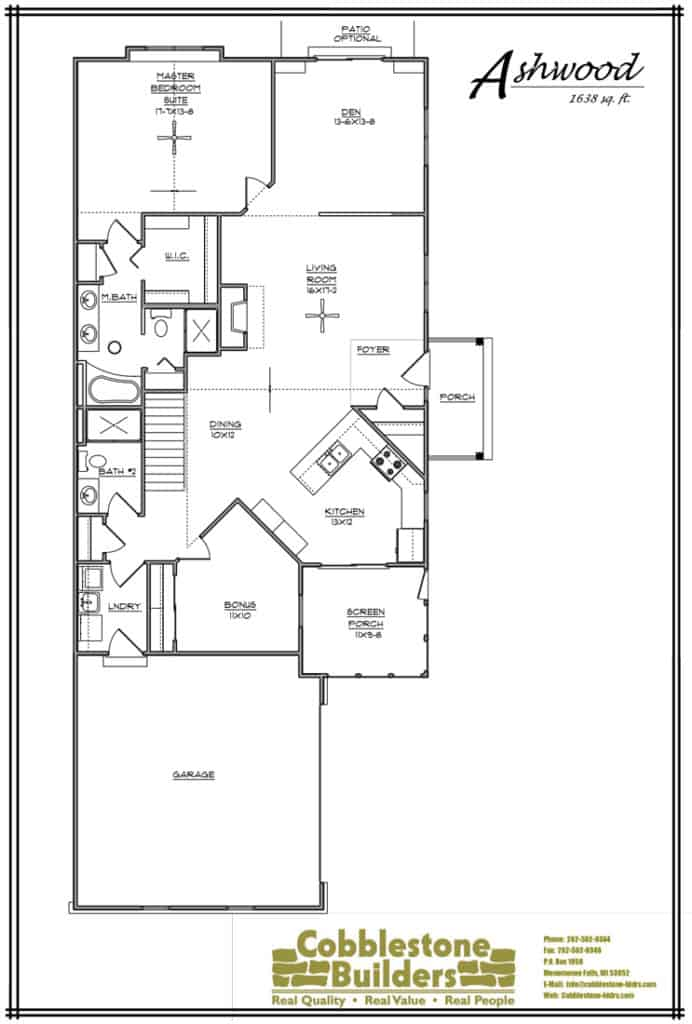 Ashwood iii condominium jackson wi condos for sale for Ashwood builders