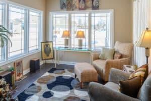 windows in living area