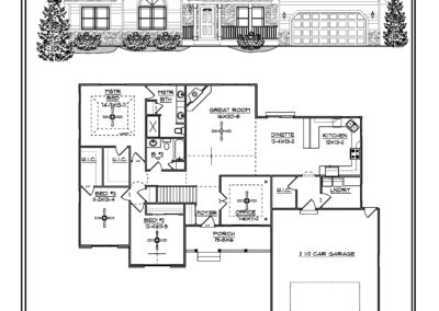 Christine II Ranch 2,054 sq ft design