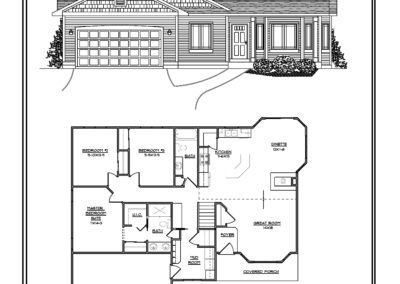 Freedom Ranch 1,515  sq ft design